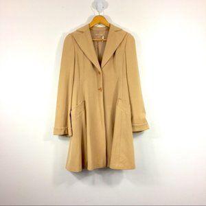 Vintage Retro Style Drape Open Long Trench Coat